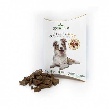Fleischsnack Meat und Herbs Lamm - Snack à la l'agneau et herbes pour chiens Boswelia