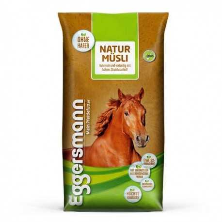 Natur Müsli Eggersmann particulièrement adapté aux chevaux allergiques