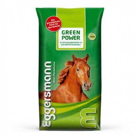 Green Power Müsli Eggersmann sans céréales pour chevaux de sport