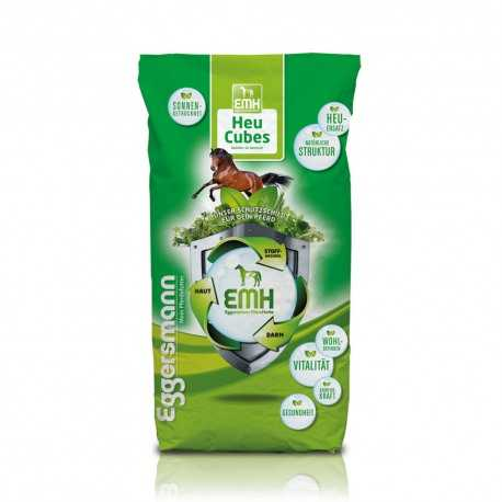 Flocons de foin EMH Heu Cubes Eggersmann 3008-320 contenant de EMH. Remplace le foin en fibre longue. idéale chevaux agés