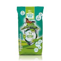 EMH Kraüter Müsli Eggersmann Muesli aux herbes pour chevaux emphysèmateux