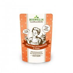 Bouchées au coeur de boeuf huile de bourrache sans céréales pour chat Frischebeutel Katze Rind und Herz mit Borretschöl