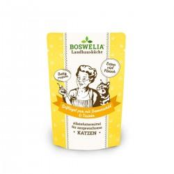 Bouchées à la volaille et huile de bourrache sans céréales pour chat Frischebeutel Katze Gelflügel Pur mit Borretschöl