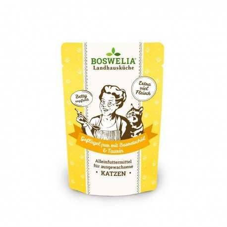 Frischebeutel Katze Gelflügel Pur mit Borretschöl bouchées pour chats à la volaille et huile de bourrache sans céréales